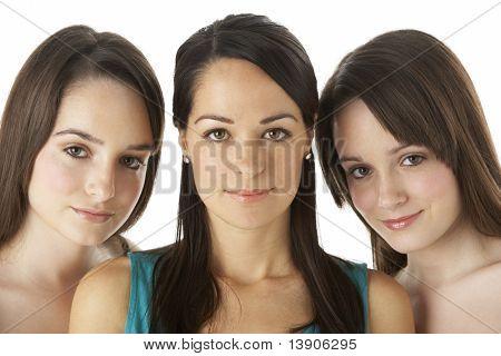Studio Portrait Of Three Young Women