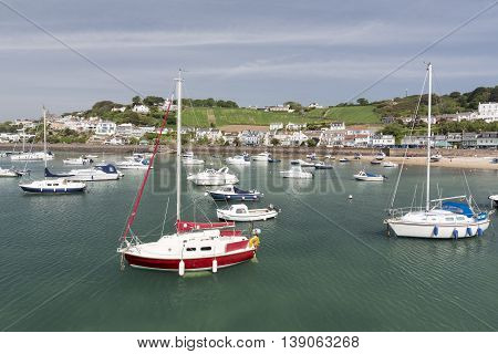 Marina in Gorey town, channel islands, UK