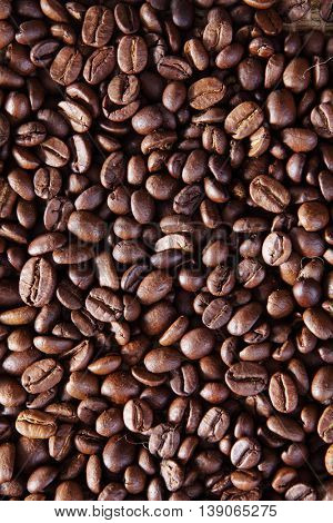full frame texture of roasted coffee bean