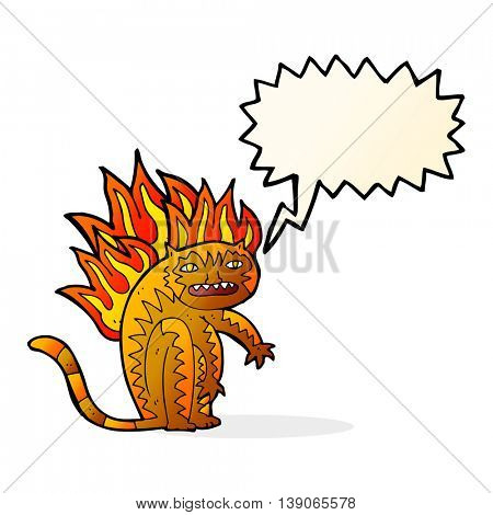 tiger tiger burning bright with speech bubble