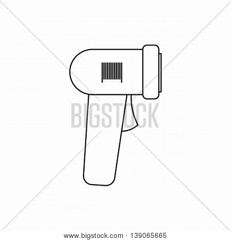 Barcode scanner icon in outline style isolated vector illustration