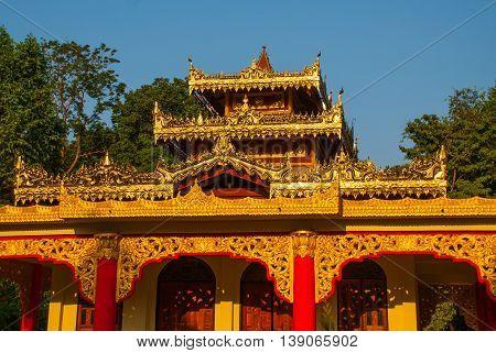 A Small Pagoda. Hpa-an, Myanmar. Burma