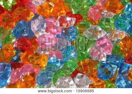 Color Plastic Diamonds