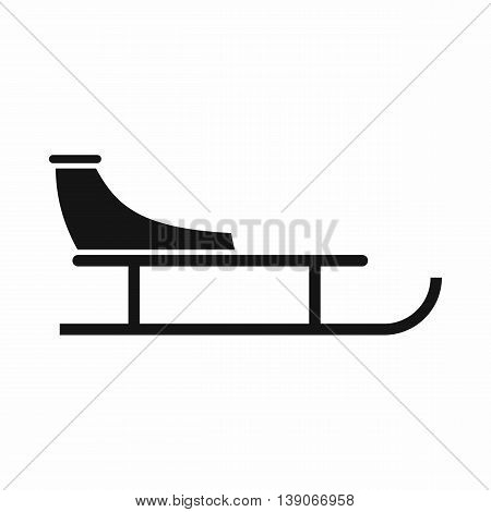 Sled icon in simple style isolated vector illustration
