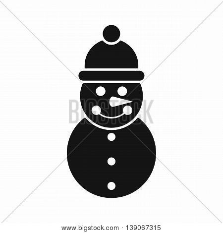 Snowman icon in simple style isolated vector illustration