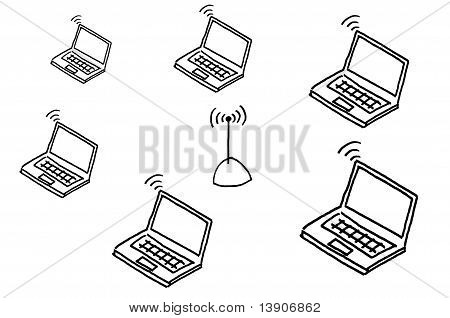 Hand Drawing Wireless Network