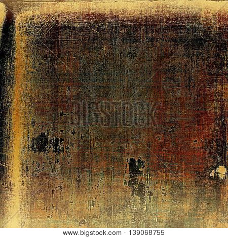 Distressed texture, faded grunge background or backdrop. With different color patterns: yellow (beige); brown; gray; black; red (orange)