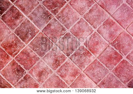 closeup of retro terracotta tiles for background use