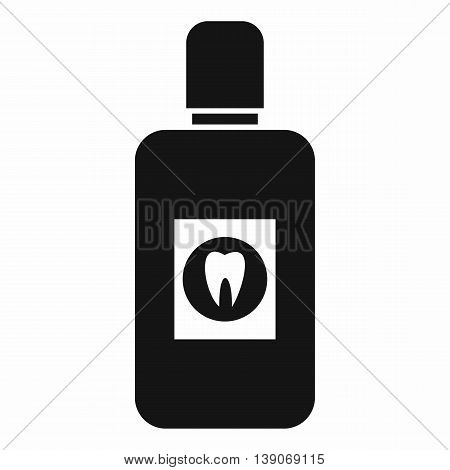 Bottle of  mouthwash icon in simple style isolated vector illustration