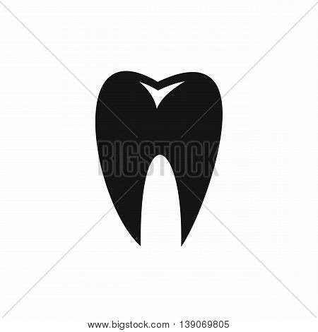 Tooth icon in simple style isolated vector illustration