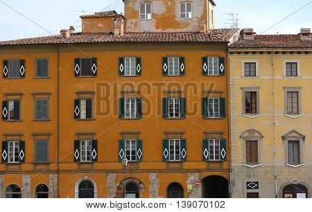 Building Facade In Pisa, Tuscany, Italy
