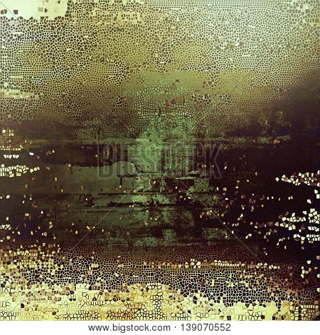 Grunge vintage template or antique background with different color patterns: yellow (beige); brown; gray; black; green