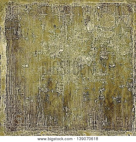 Vintage design background - Grungy style ancient texture with different color patterns: yellow (beige); brown; gray; white