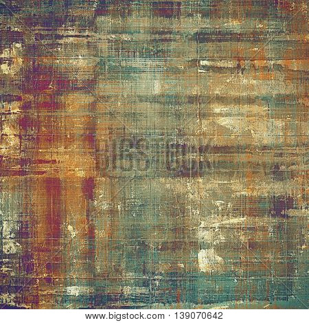 Vintage texture, old style frame decoration with grunge graphic elements and different color patterns: yellow (beige); brown; gray; green; red (orange); purple (violet)