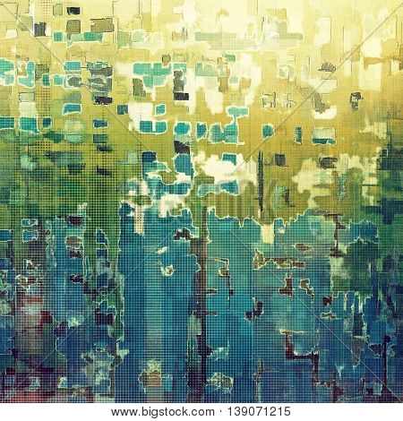 Abstract retro design composition. Stylish grunge background or texture with different color patterns: yellow (beige); gray; green; blue; white; cyan