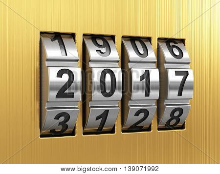 2017 Year Combination Lock