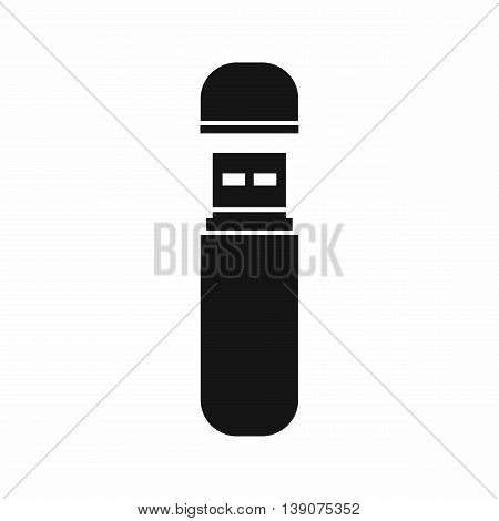 USB flash drive icon in simple style isolated vector illustration