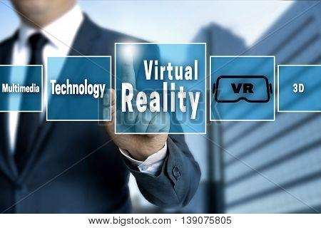 virtual reality touchscreen concept background background picture