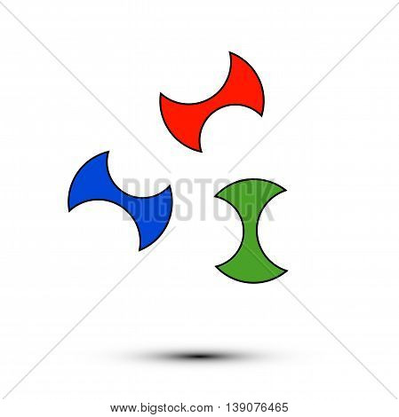 multi-colored logo on white background in vector EPS 10