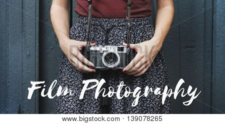 Film Photography Collect Moments Enjoyment Concept