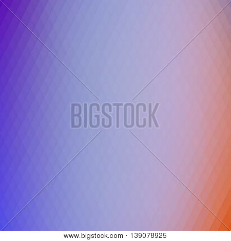 Retro rhombs background, gradient colors of geometric shape. Blue and orange gradient background