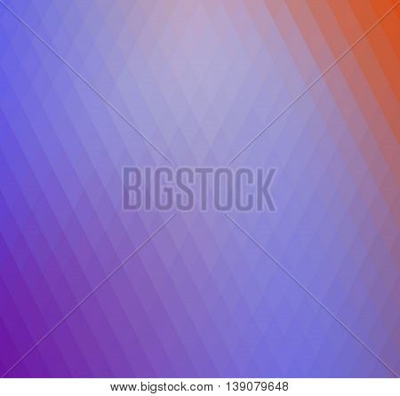 Retro rhombs background, gradient colors of geometric shape. Purple and orange gradient background
