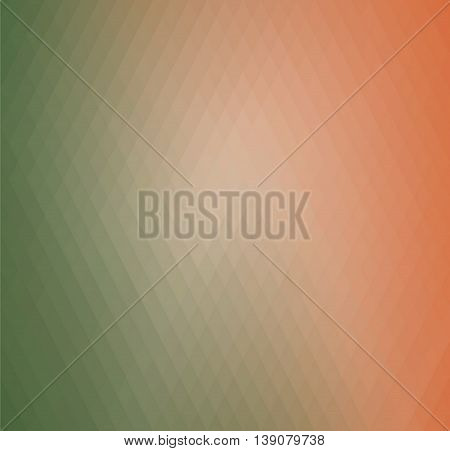 Retro rhombs background, gradient colors of geometric shape. Green and orange gradient background