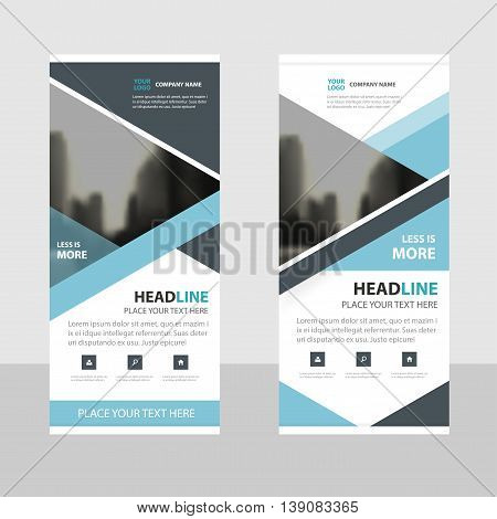 Blue black Triangle Business Roll Up Banner flat design template Abstract Geometric banner template Vector illustration set abstract presentation brochure flyer template vertical template vector