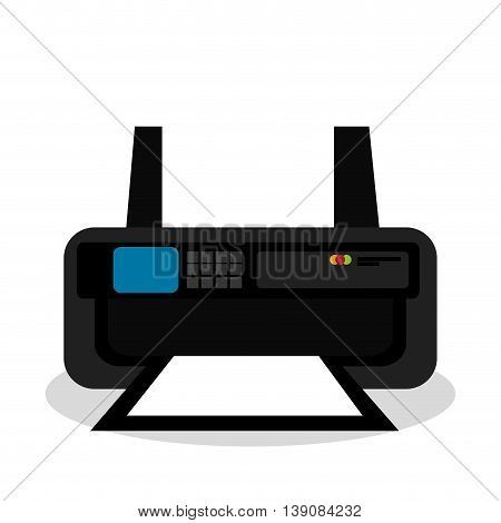 printer ink isolated icon design, vector illustration  graphic