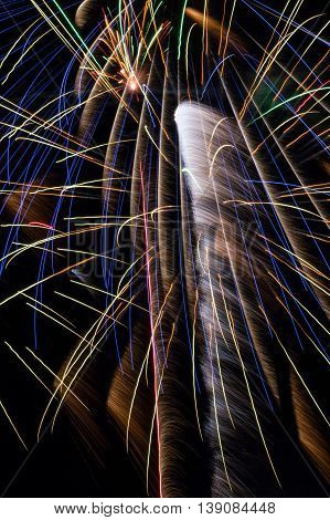 Fireworks that look like a weeping willow.