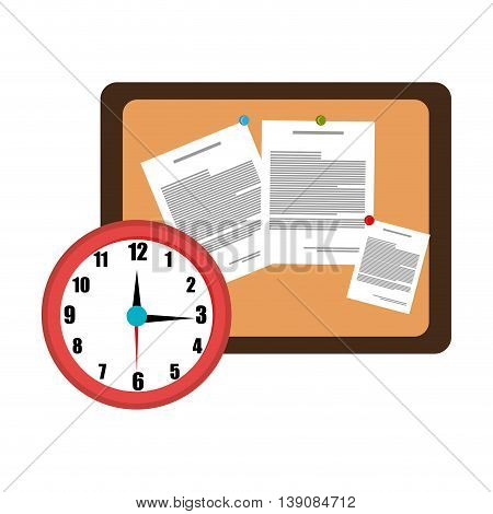 memo board office isolated icon design, vector illustration  graphic