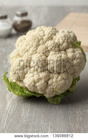 Fresh white raw cauliflower