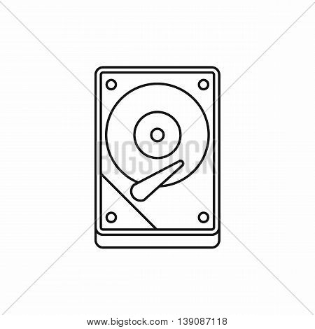 HDD icon in outline style isolated vector illustration