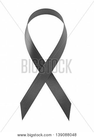 Aids awareness black ribbon and ceremonial concept