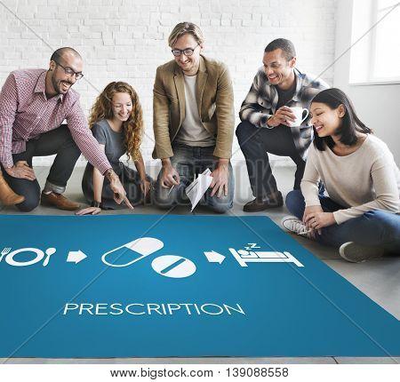 Prescription Medical Health Wellbeing Proper Care Concept