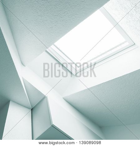 Abstract White Interior Fragment With Window