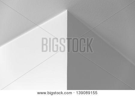 White Interior With Corner, Black And White