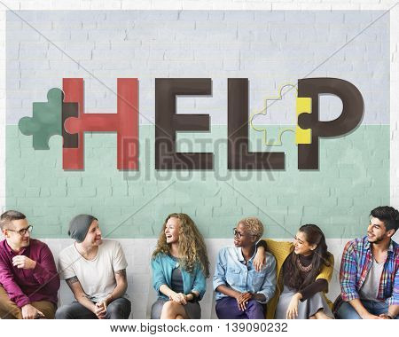 Help Helping Supporting Service Concept