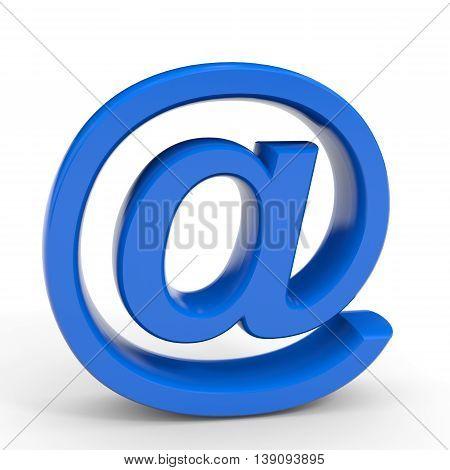 E-mail symbol. Internet security concept. 3D illustration.