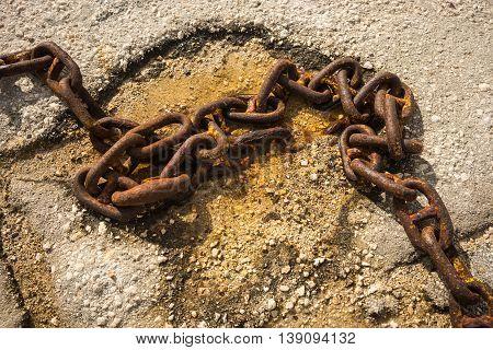 Old Rusty Ship Chain, Kefalonia, Greece