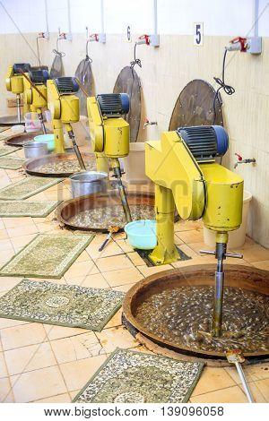 Making of traditional Omani halwa