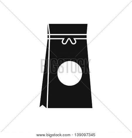 Tea packed in a paper bag icon in simple style isolated vector illustration
