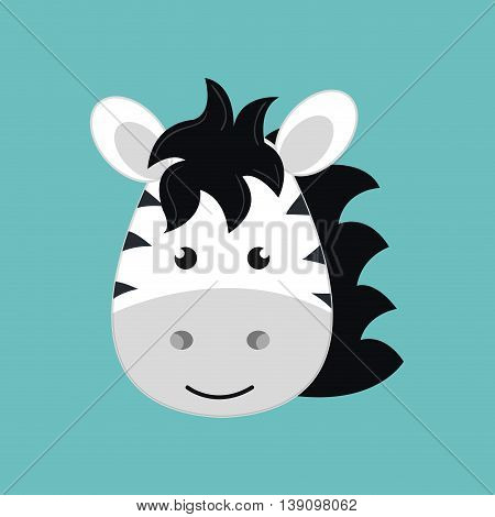 cute zebra isolated icon design, vector illustration  graphic