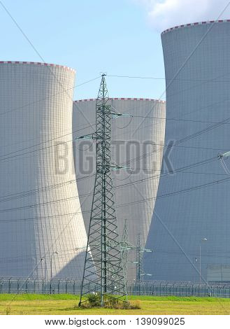 Nuclear power plant Temelin in Czech Republic Europe