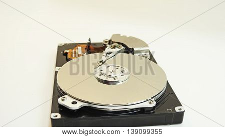 Hard Disk Drive. Disassembled and without cap