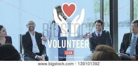 Volunteer Organization Social Help Support Concept