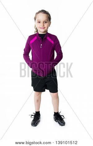 A Beautiful girl sporty with sport clothe