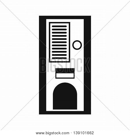 Coffee vending machine icon in simple style isolated vector illustration