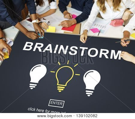 Brainstorm Creative Ideas Discussion Thinking Concept