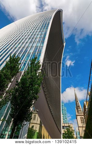 Skyscraper 20 Fenchurch Street In London, Uk